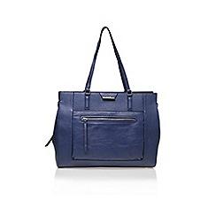 Nine West - Blue 'Just Zip It' tote bag