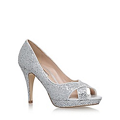Miss KG - Silver 'Georgina' high heel sandals