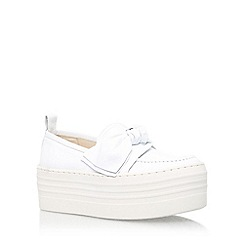 KG Kurt Geiger - White 'Lucky' mid heel slip on shoe