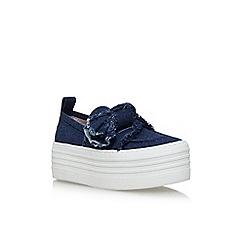 KG Kurt Geiger - Blue 'Lucky' flat platform sneakers