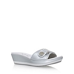 Anne Klein - Silver 'Itemize 3' low heel wedge sandal