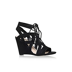 Nine West - Black 'provokes' high wedge heel sandal