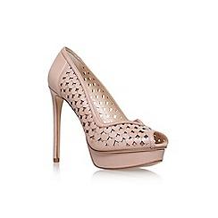 Nine West - Pink 'Estate' high heel peeptoe shoe