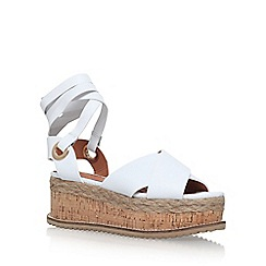 KG Kurt Geiger - White 'Noah' platform sandals