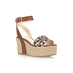 Nine West - Brown 'Edoile 3' high heel wedge sandal