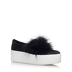 KG Kurt Geiger - Black 'Lulu' mid heel slip on sneakers