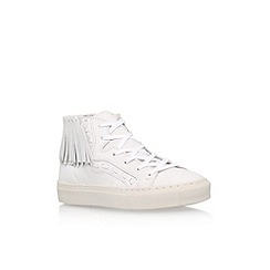 KG Kurt Geiger - White 'Lakes' flat lace up sneakers