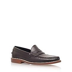 KG Kurt Geiger - Red 'Harvey' low heel slip on loafers