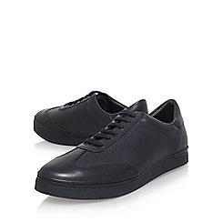 KG Kurt Geiger - Black 'Fennington' flat lace up sneakers