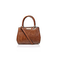 Carvela - Brown 'Dea' weaved structured bag handbag with shoulder strap