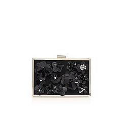 Miss KG - Black 'Hava' clutch bag with shoulder strap