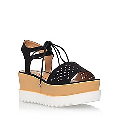 Miss KG - Black 'Phoenyx' platform sandals