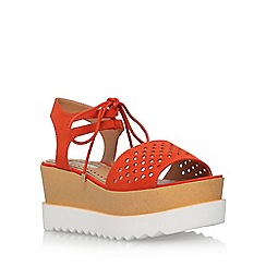 Miss KG - Orange 'Phoenyx' platform sandals