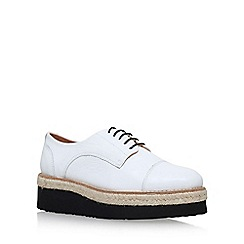 Carvela - White 'Lila' low heel lace up shoe