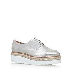 Carvela - Silver 'Lila' mid heel lace up shoe