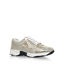 Carvela - Gold 'Lacrosse' low heel lace up sneaker