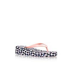 Nine West - Pink 'Bailie3' low heel wedge flip flops