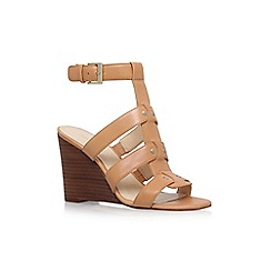 Nine West - Beige 'Falissa' high heel wedge sandals
