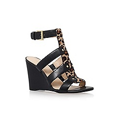 Nine West - Black 'Falissa' high heel wedge sandals