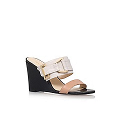 Nine West - Multicoloured 'Funtimes' mid heel wedge sandals