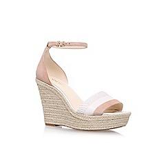 Nine West - Brown 'Jutty' High Heel Wedge Sandals