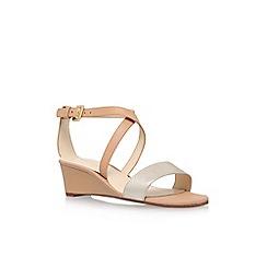 Nine West - Brown 'Lacedress' mid heel sandals