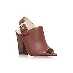 Nine West - Brown 'Orlanda' high heel slingback shoe