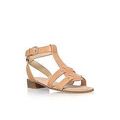 Nine West - Beige 'Yippee' low heel sandals