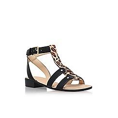 Nine West - Black 'Yippee' low heel sandals