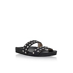 Nine West - Black 'Zelise' flat slip on sandal