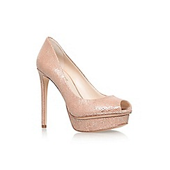 Nine West - Gold 'Edlyn' high heel peeptoe shoe