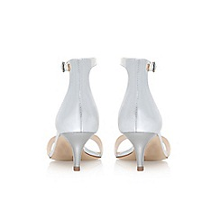 Nine West - Silver 'Leisa' low heel sandals