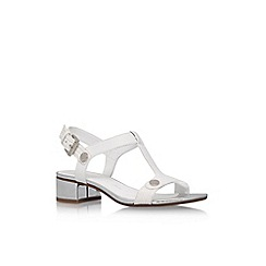 Anne Klein - White 'Ebber' low heel sandals