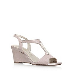 Anne Klein - Beige 'Emanie 2' high heel wedge sandal