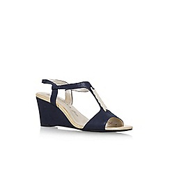 Anne Klein - Blue 'Emanie 2' high heel wedge sandal