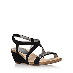 Anne Klein - Black 'Jasia2' low wedge sandal