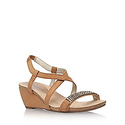 Anne Klein - Brown 'Jasia2' low wedge sandal