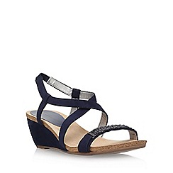 Anne Klein - Blue 'Jasia2' low wedge sandal
