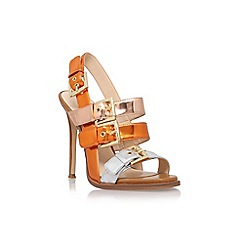 Nine West - Orange 'How rude' high heel sandals