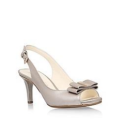 Anne Klein - Beige 'Stephania' mid heel sandal