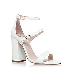 Carvela - White 'Genetic' high heel sandals