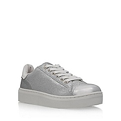 KG Kurt Geiger - Silver 'Loopy' flat lace up sneakers