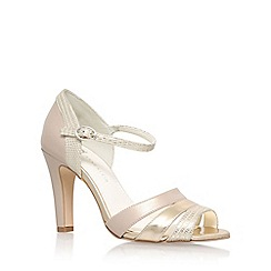 Anne Klein - Gold 'Peplum3' high heel sandals