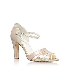 Anne Klein - Gold 'Peplum3' high heel sandals