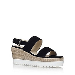 Carvela - Black 'Kup' high heel wedge sandals