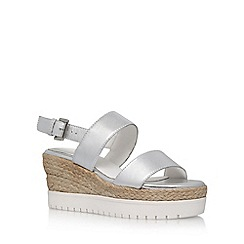 Carvela - Silver 'Kup' high heel wedge sandals