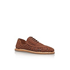 KG Kurt Geiger - Brown 'Saxa' Flat Lace Up Sandal Shoe