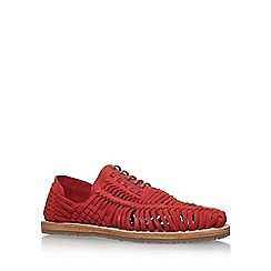 KG Kurt Geiger - Red 'Saxa' Flat Lace Up Sandal Shoe