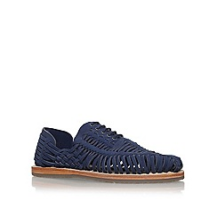 KG Kurt Geiger - Blue 'Saxa' Flat Lace Up Sandal Shoe