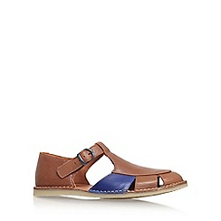 KG Kurt Geiger - Brown 'Dwight' flat sandals